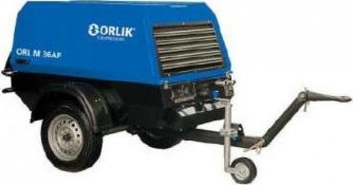 Compresor de aer mobil cu snec 5,2 mc/min