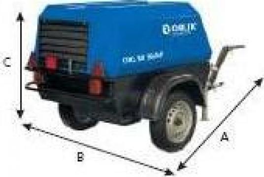 Compresor de aer mobil cu snec 8 mc/min