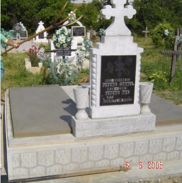 Cruce piatra funerara de la A. F. Morgovan Octavian