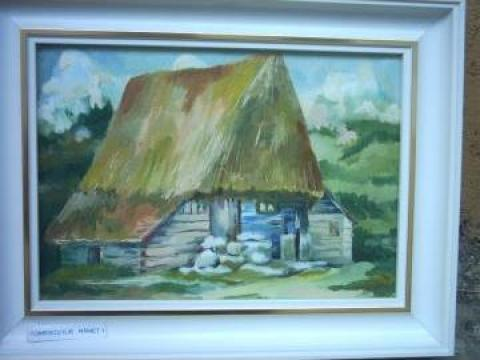 Tablou pictura in ulei pe panza dimensiuni 22/14cm de la P.f.a. Tomescu Ilie