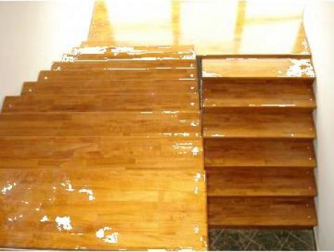 Scara metalica placata cu trepte din lemn de la Bigal Plast