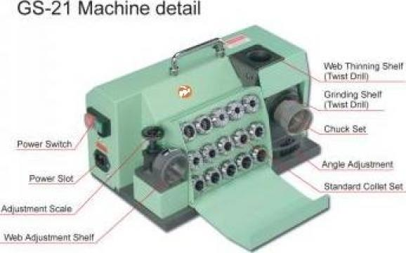 Masina de ascutit burghie 8 - 25,4 mm de la Artem Group Trade & Consult Srl
