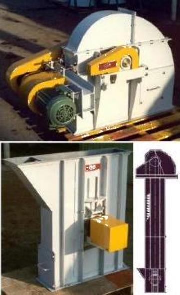 Elevator cu cupe antrenare covor cauciuc de la Tecno Mecanica Ind. - T.m.i. Srl.