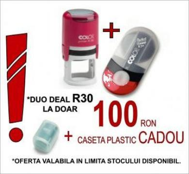 Set stampile rotunde duo Deal r30 de la Polistamp