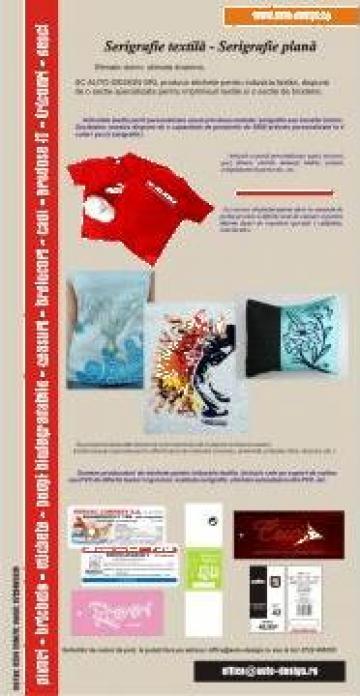 Etichete textile, imprimerie, broderie de la Sc Auto Design Srl