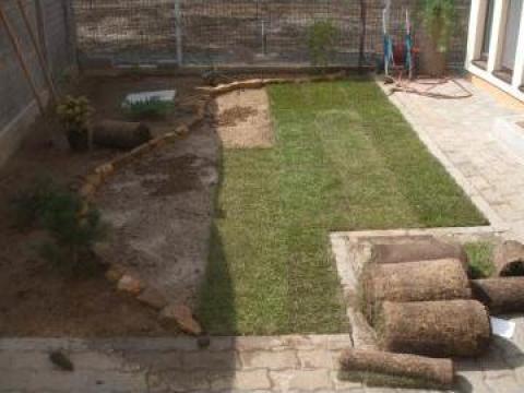 Gazon rulou pentru gradina de la Garden Rustic Spatii Verzi
