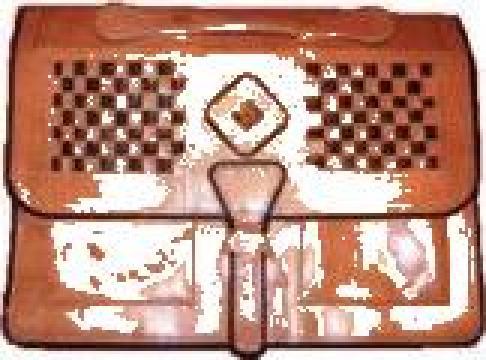 Geanta dama piele naturala lucrata manual artizanat african