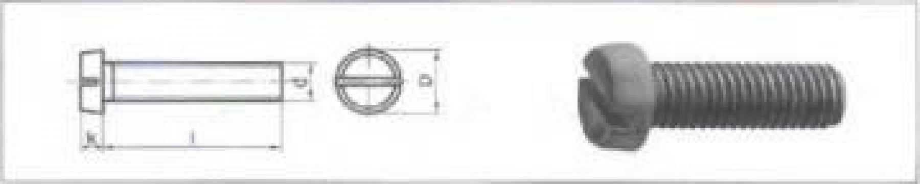 Surub inox cu cap cilindric crestat/ scund/ locas hexagonal de la MRG Stainless Group Srl