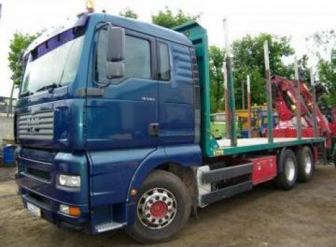 Camion Man cu macara + remorca racoante de la Eurocamioane.ro