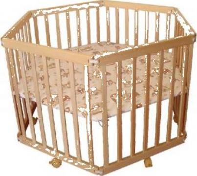 Tarc hexagonal din lemn pentru bebe si copii Ioana de la Teri Magazin Online Pentru Bebe Si Copii