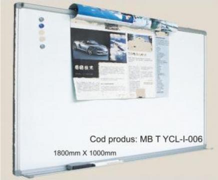 Tabla scolara magnetica alba ceramica (Whiteboard) de la Eurodidactica Srl