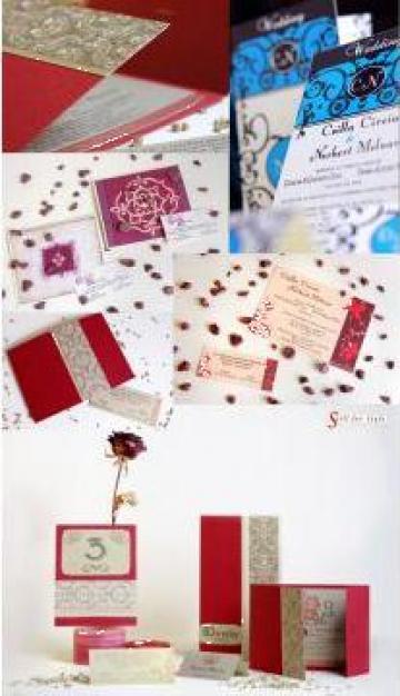 Invitatii de nunta hand made de la Stil For Stil Srl