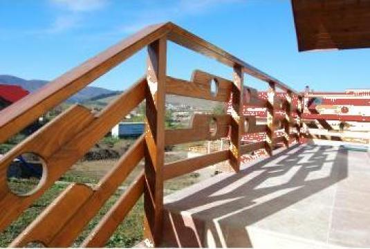Balustrade grinzi lemn coltari