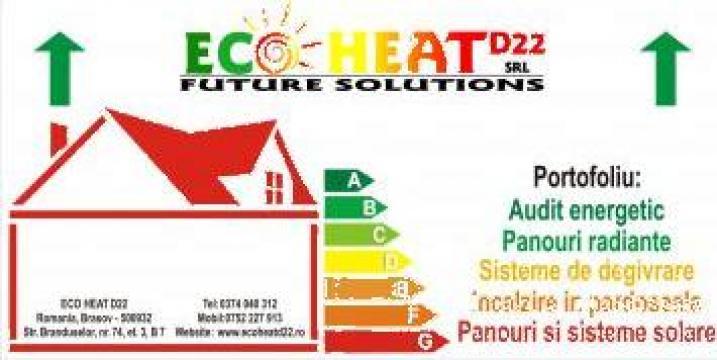 Panou radiant Ecosun U 300W de la Eco Heat D22