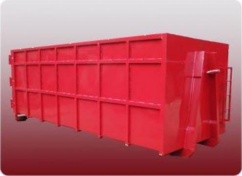 Container Abroll 20 mc pentru fier vechi culoare rosie de la Lucimet Prod Srl