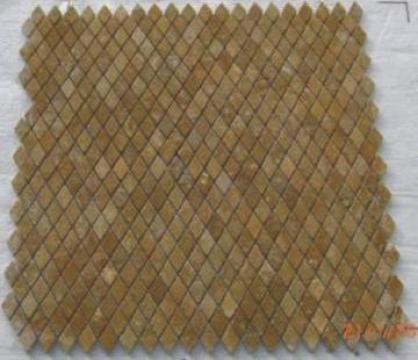 Mozaic travertin galben tumbled Diamond 1x2.3x2.3 cm de la Geo & Vlad Com Srl