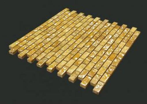 Mozaic travertin Yellow Brick 1x2,3x4,8 cm de la Geo & Vlad Com Srl