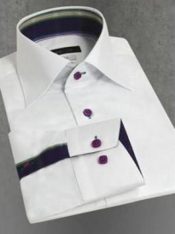Camasi pentru barbati alb cu negru de la Johnny Srl.