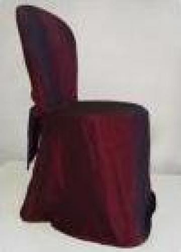 Husa de scaun plus esarfa grena din tafta