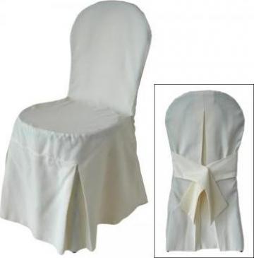 Husa pentru scaun dintr-o bucata pentru spatar rotund