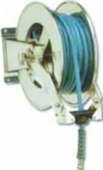 Suport inox retractabil automat pentru furtun