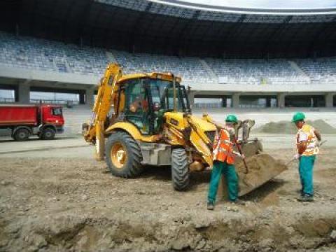 Inchiriere buldoexcavator JCB de la C Joldea Construct