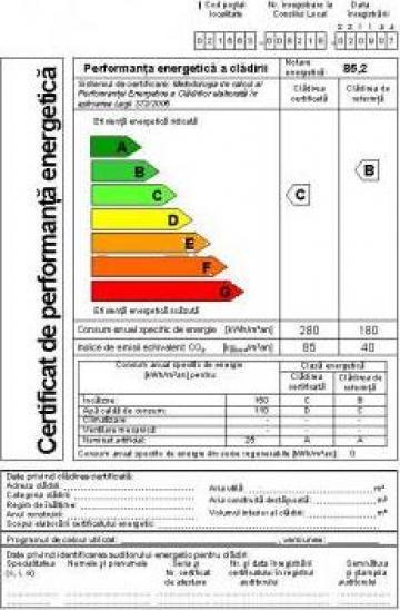Certificat energetic de la Auditor Energetic Pentru Cladiri