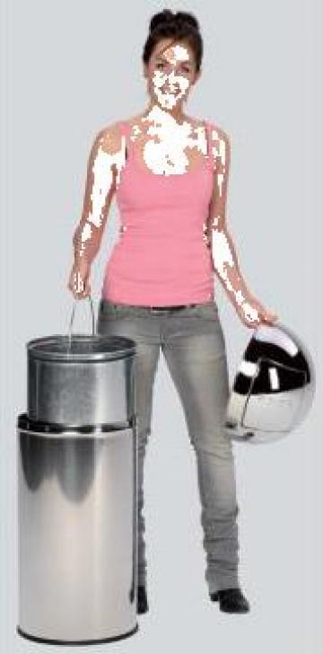 Cos de gunoi Push inox