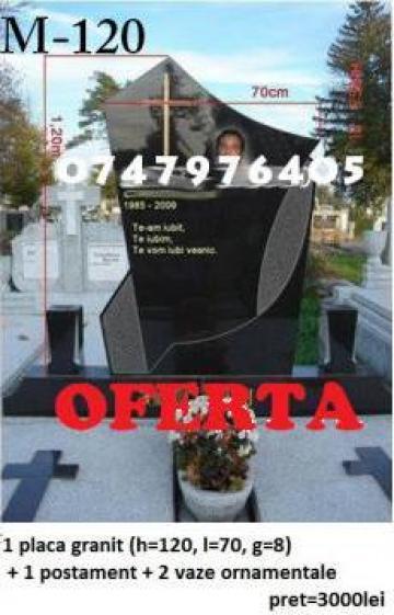 Monument funerar granit M120 de la Ciuciu Dorinel Constantin Intreprindere Individuala