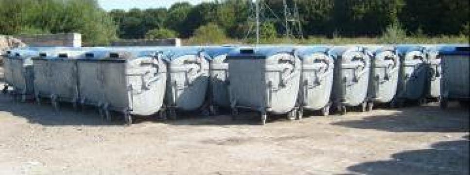 Containere metalice 1100 litri second hand de la Sc Schuster Recycling Technology Srl