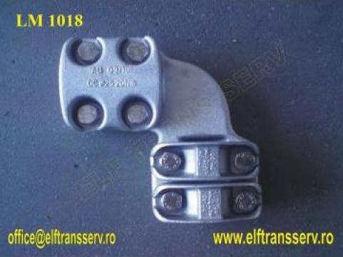 Clema racord 90 grd tub Aluminiu - LM 1018 RO
