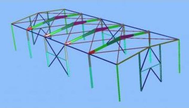 Proiectare structuri metalice pentru depozite si productie de la Contrust