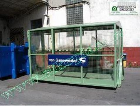 Containere cu pereti din plasa de la Elkoplast Romania Srl.