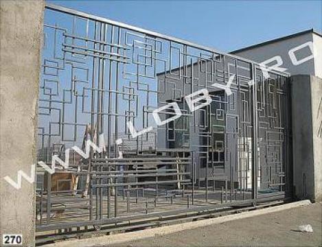 Poarta si gard din fier forjat Geometric de la Loby Design