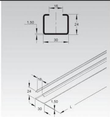 Sina C 30x24x1,5mm