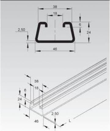 Sina C 46x24x2,5mm de la Niedax Srl