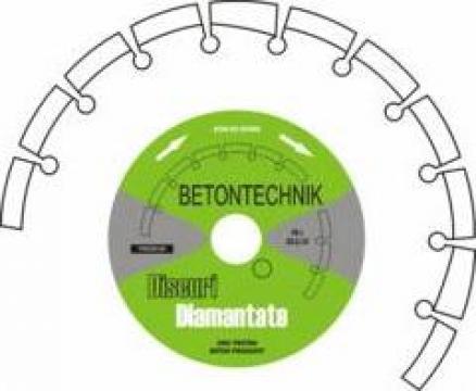 Disc diamantat pentru beton nearmat BE19/125 de la Baza Tehnica Alfa Srl