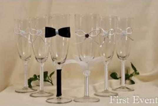Pahare decorate pentru nunta de la Firstevent