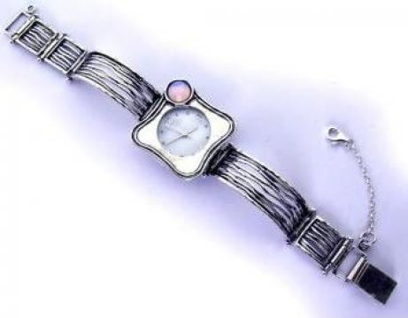 Ceas din argint lucrat manual in Israel de la Hana's Gifts Srl.