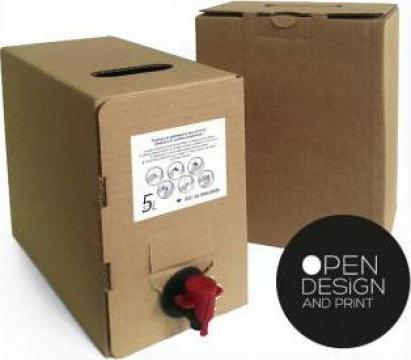 Cutie suc sau vin bag in box 3 litri de la Open Design&Print
