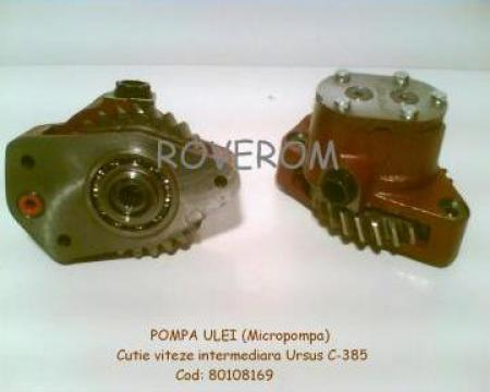 Pompa ulei, micropompa, Ursus C385, Zetor, Z=27 dinti inalti
