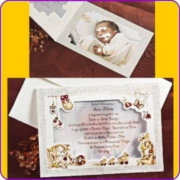Invitatie botez cu sau fara poza de la Simonne
