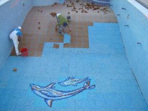 Gresie, faianta piscina de la Resort Family