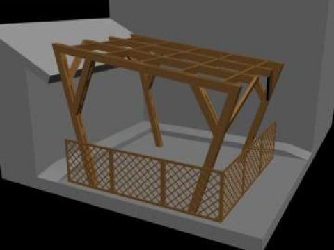 Pergola din lemn pentru terasa