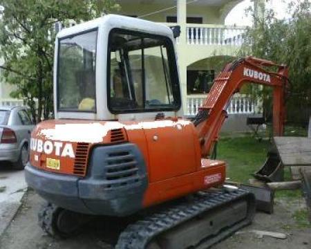 Inchiriere miniexcavator Kubota de 4t de la Gheorghe Valeriu Enache Pfa.