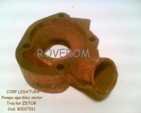 Corp legatura pompa apa - bloc motor tractor Zetor de la Roverom Srl