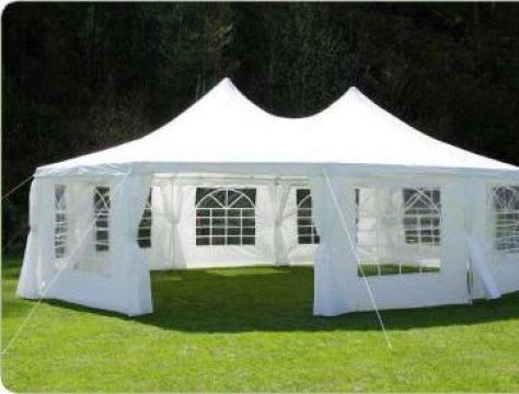Pavilion - cort, 10 colturi 8,9 x 6,5 m - alb