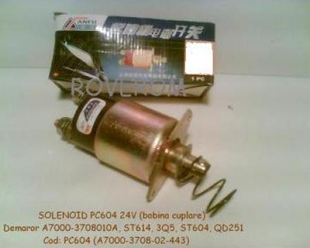 Solenoid 24v, demaror motor Yuchai 6105Q, Chaoyang 6102 de la Roverom Srl