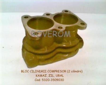 Bloc cilindrii compresor (2 cilindrii) Kamaz, Zil, Ural
