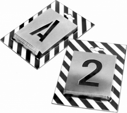Marcator alfabet si joc de cifre - caractere baton de la Artem Group Trade & Consult Srl